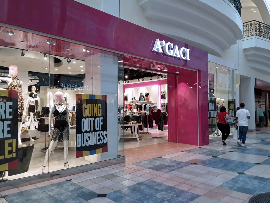A'GACI announces closing of all stores, including 3