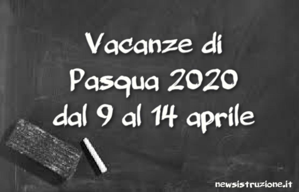 Vacanze di Pasqua 2020, dal 9 al 14 aprile stop alla didattica a distanza