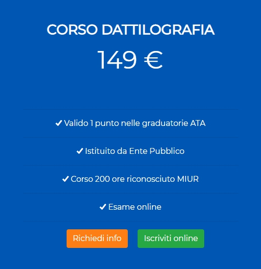 Corso Online Dattilografia Ata