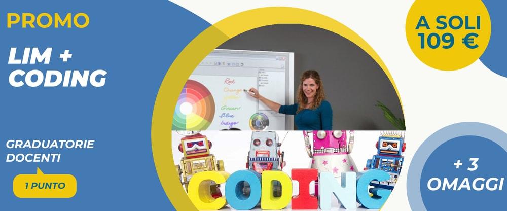 Corso Lim + Coding Docenti: promo più 3 omaggi