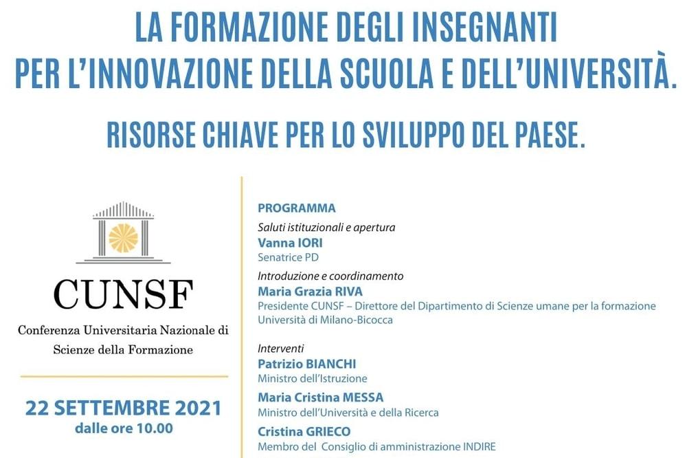 Formazione Docenti, oggi 22 settembre evento con i Ministri Bianchi e Messa