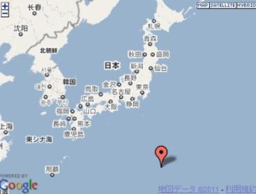 小笠原諸島 地震 地図 震源2