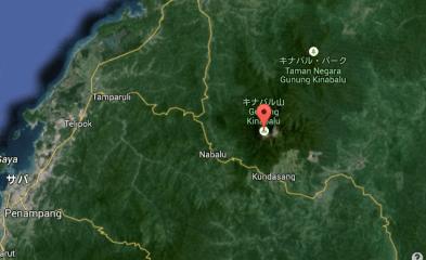 キナバル山 場所