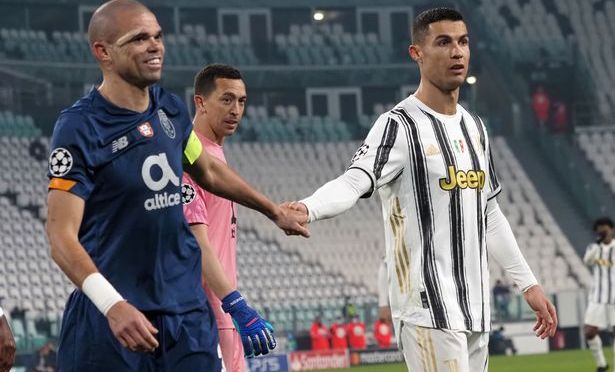 Unseen footage shows what Ronaldo said to Pepe before Champions League exit