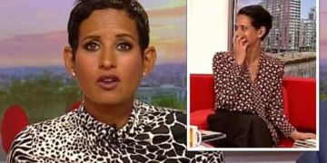 Naga Munchetty apologises after she likes 'offensive' tweets about the use of British flag