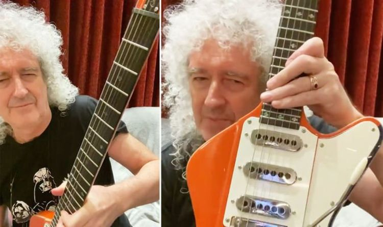 Queen's Brian May performs epic solo on his new guitar model The Arielle – WATCH