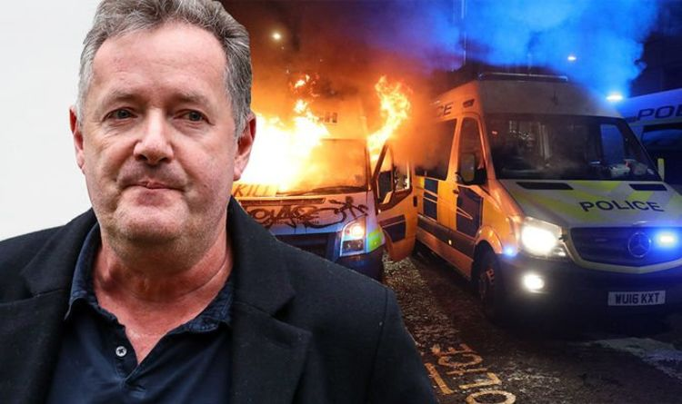 Piers Morgan slams 'disgusting scenes' at Bristol demonstration: 'Give police a break'