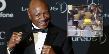 Fight fans share 'greatest 3 minutes in boxing history' in tribute to 'Marvelous' Marvin Hagler after death aged 66 (VIDEO)