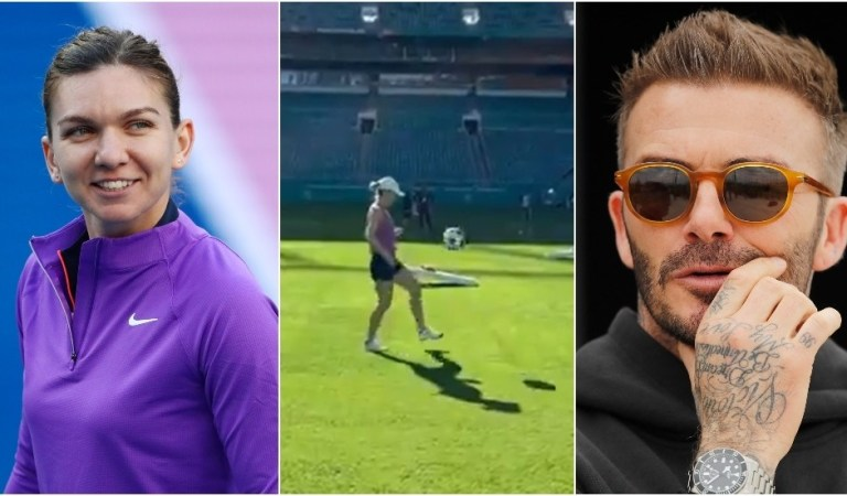 'Beckham should sign her up!': Tennis star Simona Halep amazes Inter Miami with football skills (VIDEO)