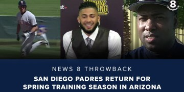 News 8 Throwback: San Diego Padres return for spring training season in Arizona