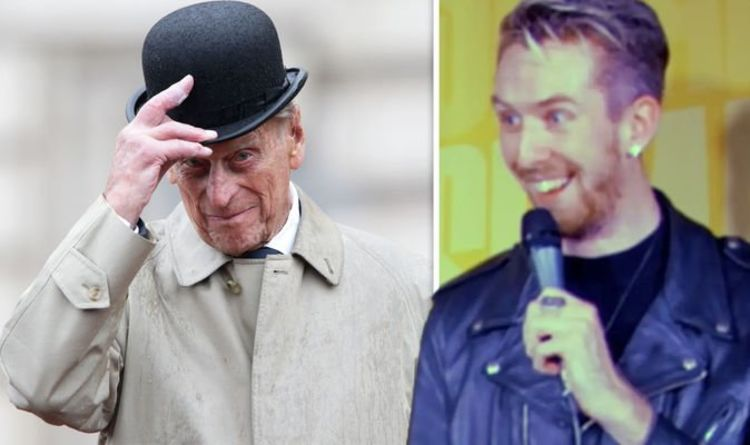 Moment Australian comedian jokes about Prince Philip's death – then is told he's dead