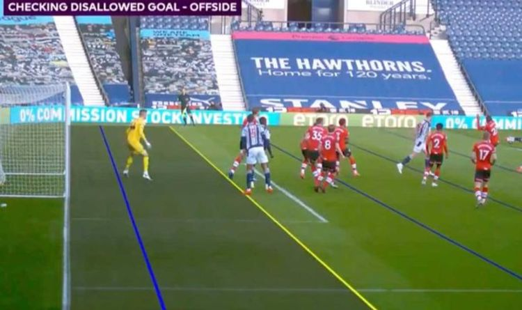 VAR shocker as West Brom goal disallowed 'due to positioning of camera' vs Southampton