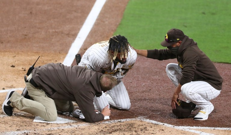 Padres star Fernando Tatis Jr. leaves game with injury
