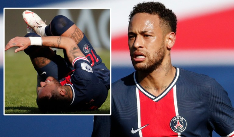 Disaster for Neymar: Riled Brazil star sent off on his first start in months as Paris Saint-Germain flop in top-of-the-table clash