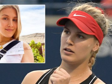 'Vaccinated queen': Tennis ace Bouchard says jabs will 'get us back to real life', likens treatment to a Willy Wonka golden ticket