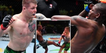 'Right in the balls': Marvin Vettori survives sickening low blow seconds after start to beat Kevin Holland at UFC Vegas 23 (VIDEO)