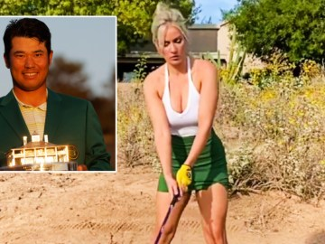 'I'm so upset': Paige Spiranac stunned by racism accusations as golf babe cops cancel culture for admiring Masters champ Matsuyama