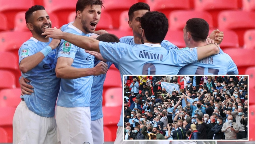 Four-midable: Late Laporte strike seals 4th Carabao Cup in row for Man City as Spurs struggle in front of fans at Wembley