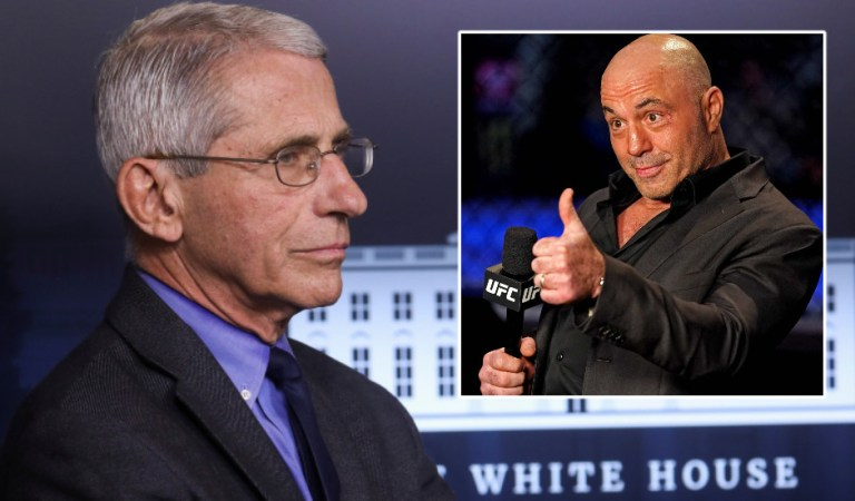 Calls for 'anti-woke' UFC commentator Joe Rogan to be canceled after he clashes with Fauci over advice not to get Covid-19 vaccine