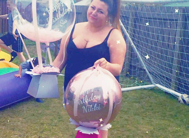 Moment birthday girl watches in horror as gift balloon with £100 tied to it floats away moments after unwrapping