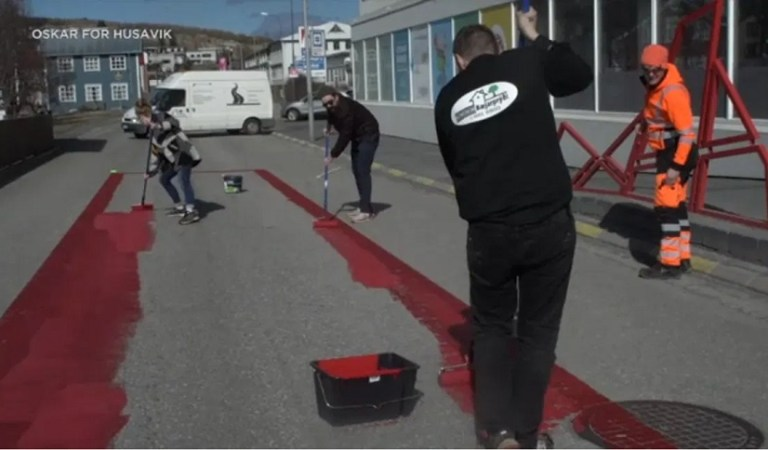 Oscars 2021: International celebration for best song nominee has Iceland residents literally painting the town red
