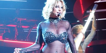 Britney Spears Shakes Her Hips In Nothing But A Sheer 'Lace & Leather Catsuit' — Watch