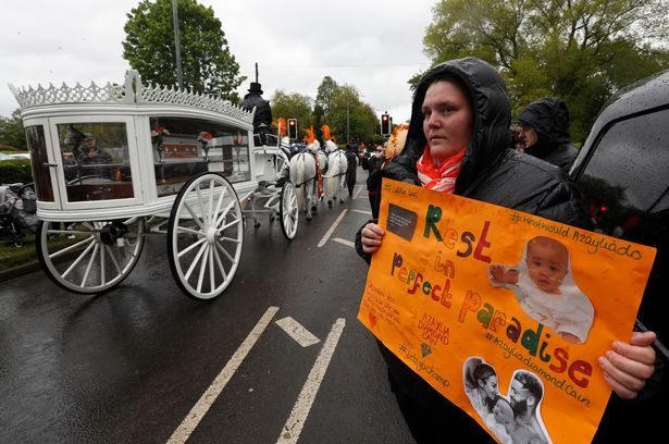 'Precious baby' Azaylia Cain honoured at emotional funeral service