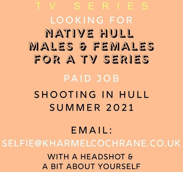 TV show looking to pay 'native Hull males and females' to star