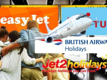 Package holidays: easyJet, Jet2, BA & TUI updates with 'green list' due in days
