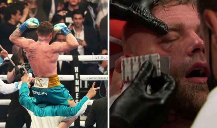 Canelo Alvarez stops Billy Joe Saunders as Brit pulled out with orbital bone injury