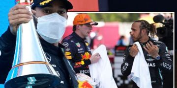 Lewis Hamilton has message for Max Verstappen after 98th F1 win at Spanish Grand Prix