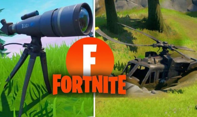 Fortnite repair damaged telescopes, investigate downed helicopter Foreshadowing challenges