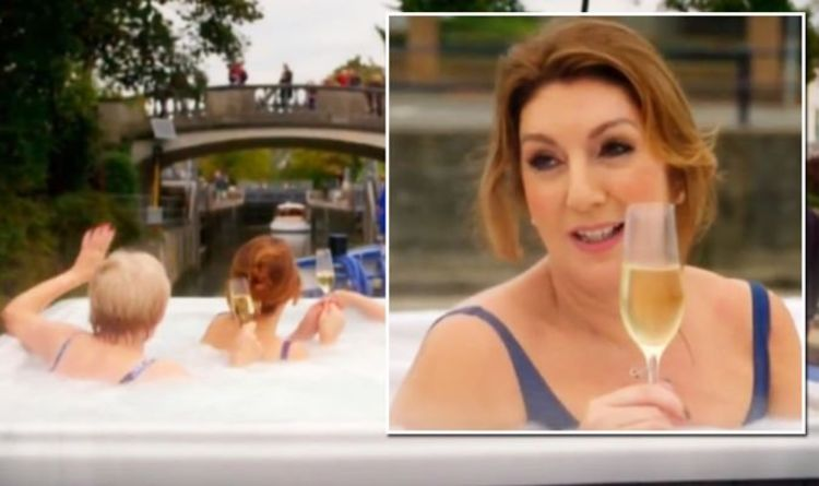 'Maybe she won': Jane McDonald bathes in a hot tub on a boat 'in the middle of winter'