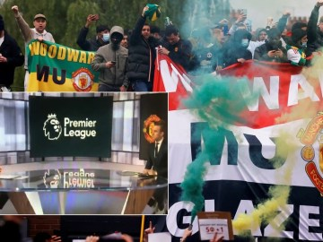 'Land of free speech'? Fans scream conspiracy as analyst is CUT OFF by US TV during anti-Glazer rant on Man Utd protests (VIDEO)