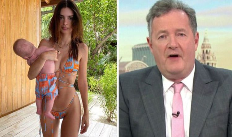 'That's not how you hold a baby!' Piers Morgan criticises Emily Ratajkowski pic with son
