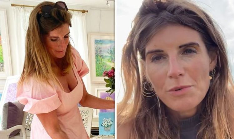 Our Yorkshire Farm's Amanda Owen, 46, puts on jaw-dropping display in plunging mini dress