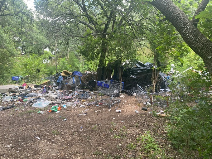 city-sanctioned homeless camps nearby