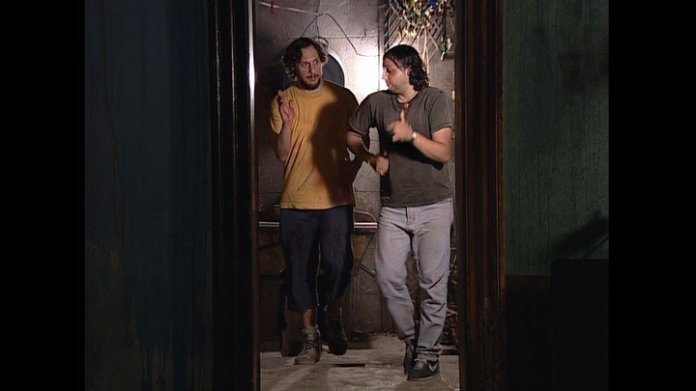 """Franco Tiri and Ariel Staltari in a scene from the series """"Squats"""" produced by Marcello Tinelli."""