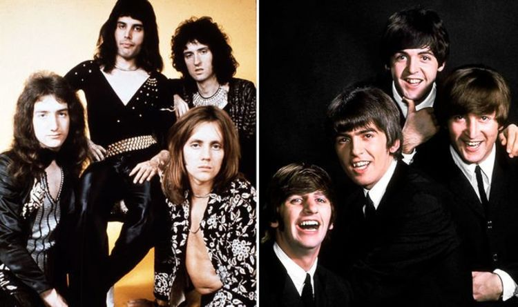 The Beatles and Freddie Mercury's Queen top most influential UK bands and solo artists