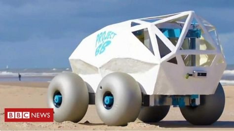 The beach rover grabs cigarette butts, and other tech News