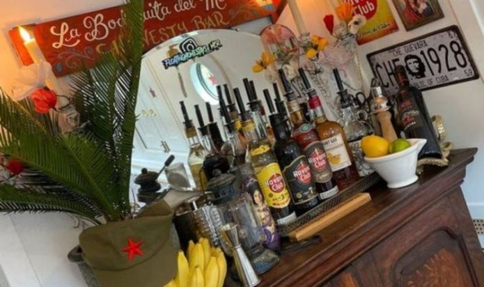Staycation in a narrowboat with Cuban themes and additional stones Manchester
