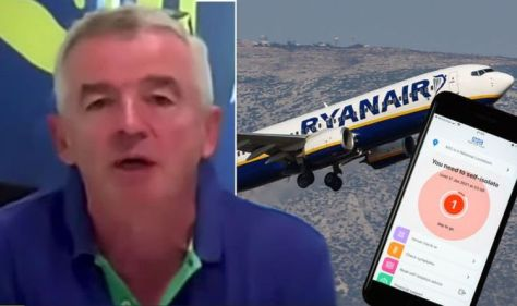Ryanair boss: Ryanair urges passengers who have been vaccinated to 'turn off' the NHS tracing app