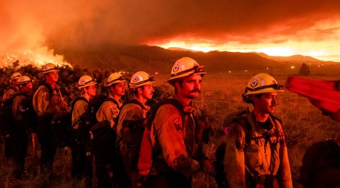 As heat waves sweep across the western United States, wildfires in Northern California spread
