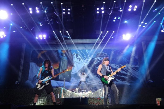 It took Iron Maiden six years to produce their new material, which will be in double disc format and will last 82 minutes.  photo juano tesone
