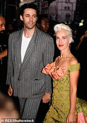 Famous parents: The model is the third daughter of Bob Geldof and Paula Yates, who tragically died aged 41 in 2000 after a heroin overdose (pictured together in 1995 - five years before Paula's tragic death)