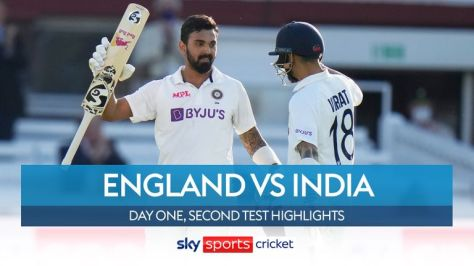Highlights from day one of the second Test between England and India at Lord's