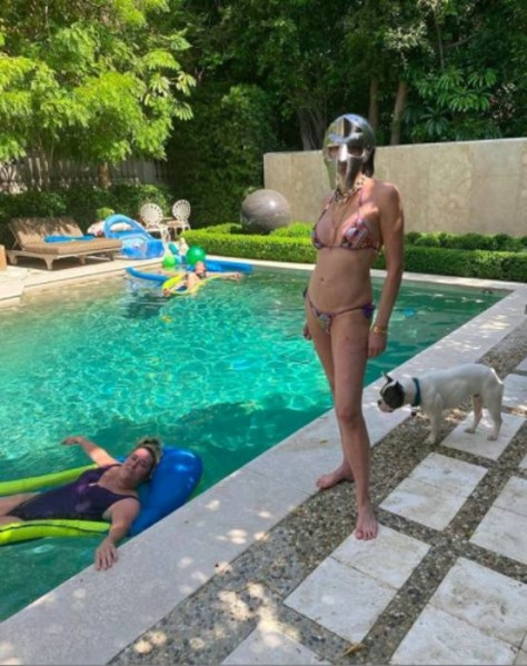 Sharon Stone shared a candid photo of herself