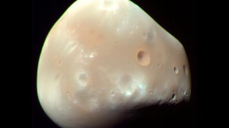 Mars Rover Sky Watches, and Spots a Strange Martian Moon