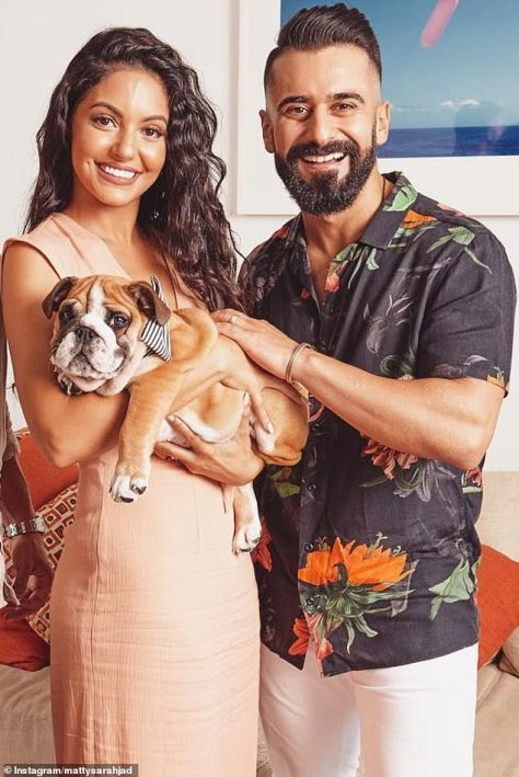 Revealed:Gogglebox stars Matty and Sarah Marie Fahd (pictured) revealed what happened to their dog Bane after he disappeared from their Instagram accounts