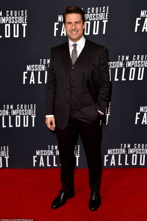 Fallout film premiere: Tom, 59, plays Ethan Hunt in the famous franchise (pictured above at the Mission: Impossible - Fallout premiere in 2018)
